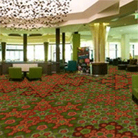 Photoshopped carpet in hotel lobby